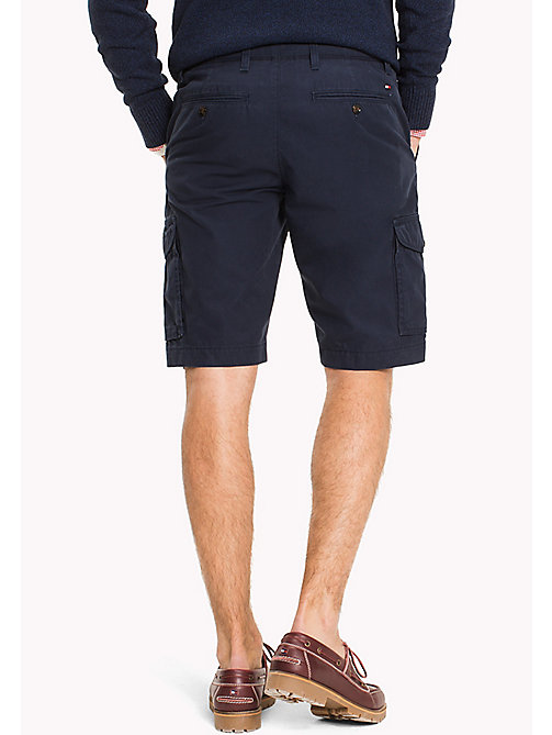 TOMMY HILFIGER Big & Tall Shorts cargo in puro cotone - NAVY BLAZER - TOMMY HILFIGER Big & Tall - dettaglio immagine 1
