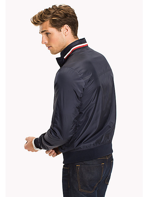 TOMMY HILFIGER Big & Tall Stripe Collar Bomber Jacket - NAVY BLAZER - TOMMY HILFIGER Big & Tall - detail image 1