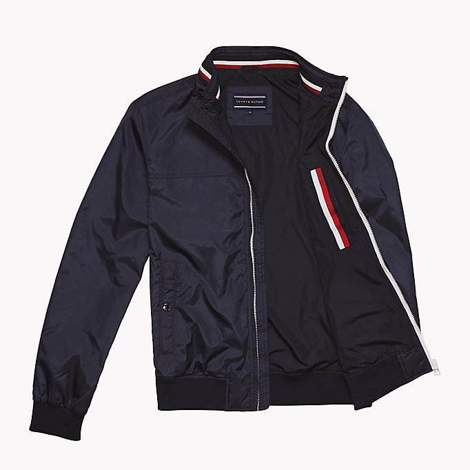 TOMMY HILFIGER Stripe Collar Bomber Jacket - HAUTE RED - TOMMY HILFIGER Clothing - detail image 4