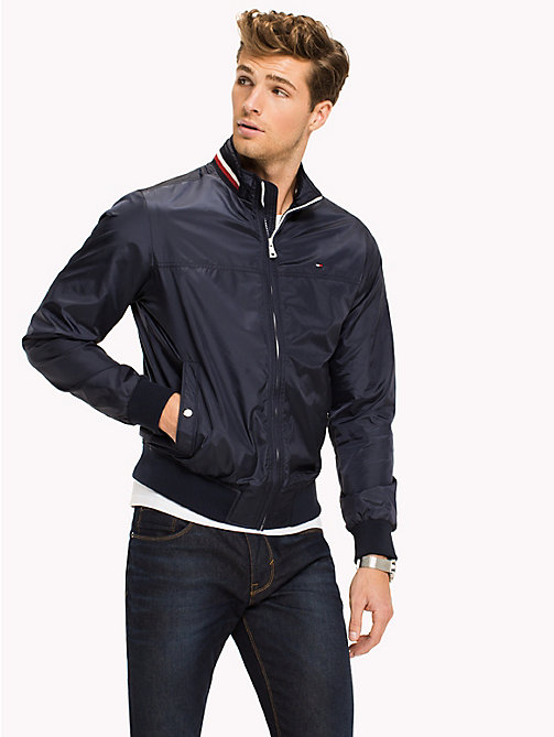TOMMY HILFIGER Bomber con collo a righe - NAVY BLAZER - TOMMY HILFIGER Big & Tall - immagine principale