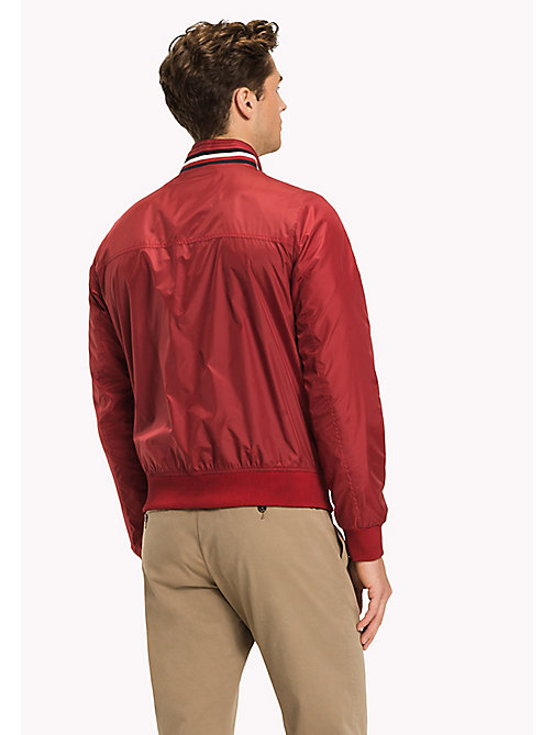 TOMMY HILFIGER Big & Tall Stripe Collar Bomber Jacket - HAUTE RED - TOMMY HILFIGER Big & Tall - detail image 1