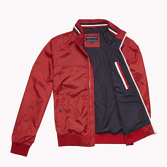 TOMMY HILFIGER Stripe Collar Bomber Jacket - NAVY BLAZER - TOMMY HILFIGER Clothing - detail image 4