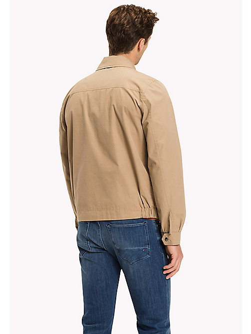 TOMMY HILFIGER Big & Tall Cotton Zip Jacket - BATIQUE KHAKI - TOMMY HILFIGER Big & Tall - detail image 1