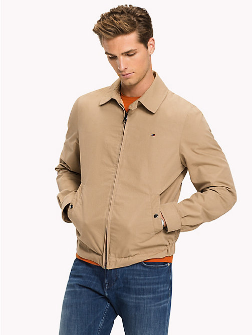 TOMMY HILFIGER Cotton Zip Jacket - BATIQUE KHAKI - TOMMY HILFIGER Jackets - main image
