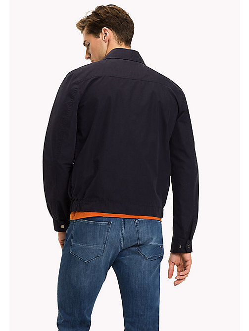 TOMMY HILFIGER Big & Tall Cotton Zip Jacket - SKY CAPTAIN - TOMMY HILFIGER Big & Tall - detail image 1
