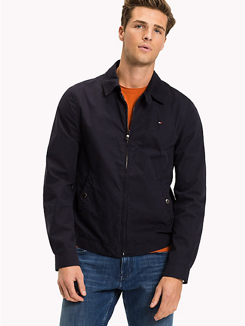TOMMY HILFIGER Cotton Zip Jacket - SKY CAPTAIN - TOMMY HILFIGER Jackets - main image