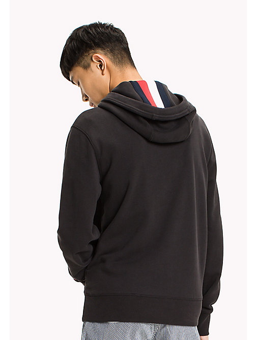 TOMMY HILFIGER Big & Tall Logo Hoodie - JET BLACK - TOMMY HILFIGER Big & Tall - detail image 1