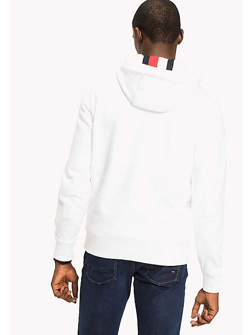 TOMMY HILFIGER Logo Hoodie - Big & Tall - BRIGHT WHITE - TOMMY HILFIGER Hoodies - detail image 1