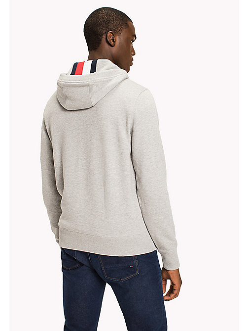 TOMMY HILFIGER Big & Tall Logo Hoodie - CLOUD HTR - TOMMY HILFIGER Big & Tall - detail image 1