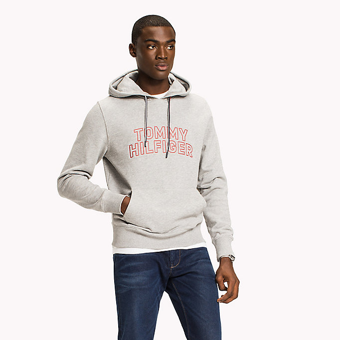 TOMMY HILFIGER Logo Hoodie - Big & Tall - BRIGHT WHITE - TOMMY HILFIGER Herren - main image