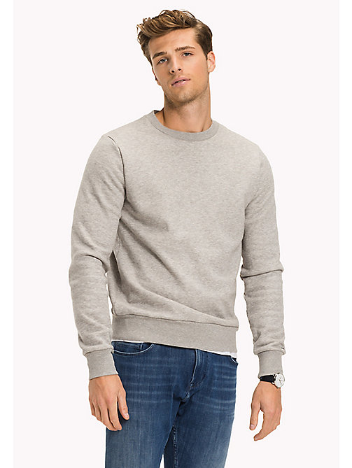 TOMMY HILFIGER Stripe Accent Sweatshirt - Big & Tall - CLOUD HTR - TOMMY HILFIGER Sweatshirts & Knitwear - main image