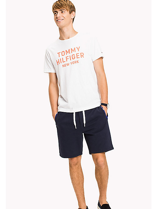TOMMY HILFIGER Big & Tall T-shirt con stampa logo - BRIGHT WHITE - TOMMY HILFIGER Big & Tall - immagine principale