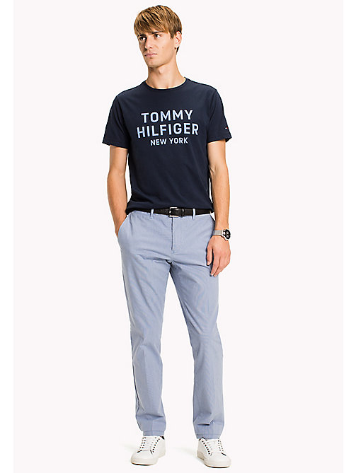 TOMMY HILFIGER Big & Tall T-shirt con stampa logo - NAVY BLAZER - TOMMY HILFIGER Big & Tall - immagine principale