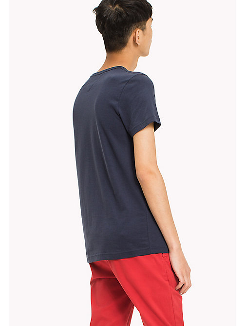 TOMMY HILFIGER Big & Tall T-shirt regular fit con iniziali logo - NAVY BLAZER - TOMMY HILFIGER Big & Tall - dettaglio immagine 1
