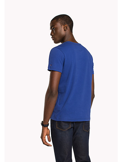 TOMMY HILFIGER Big & Tall T-shirt regular fit con iniziali logo - SODALITE BLUE - TOMMY HILFIGER Big & Tall - dettaglio immagine 1