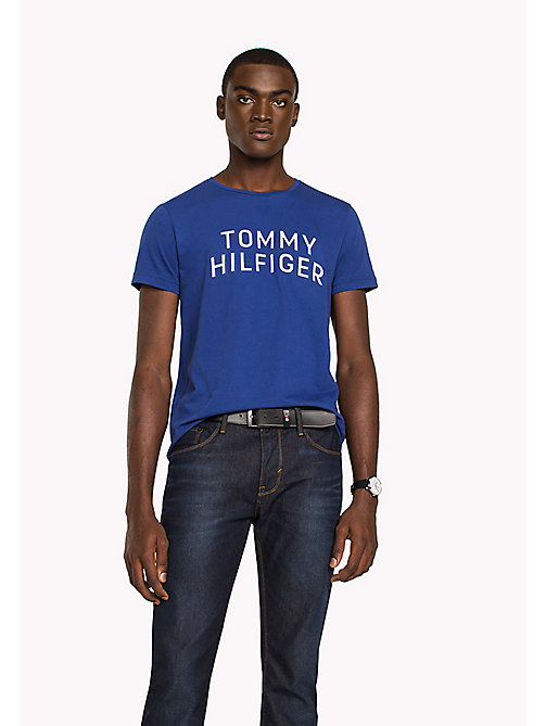 TOMMY HILFIGER Big & Tall T-shirt regular fit con iniziali logo - SODALITE BLUE - TOMMY HILFIGER Big & Tall - immagine principale