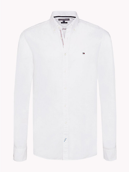 Cotton Linen Regular Fit Shirt - BRIGHT WHITE -  Clothing - main image