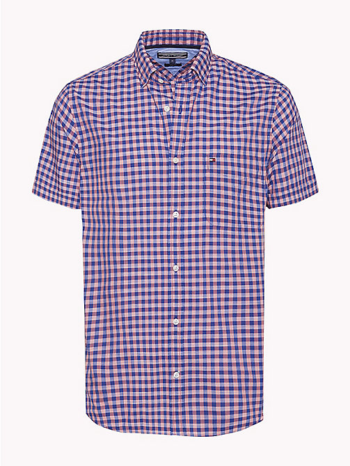 TOMMY HILFIGER Big & Tall Gingham Shirt - ROSE OF SHARON / SODALITE BLUE - TOMMY HILFIGER Big & Tall - main image