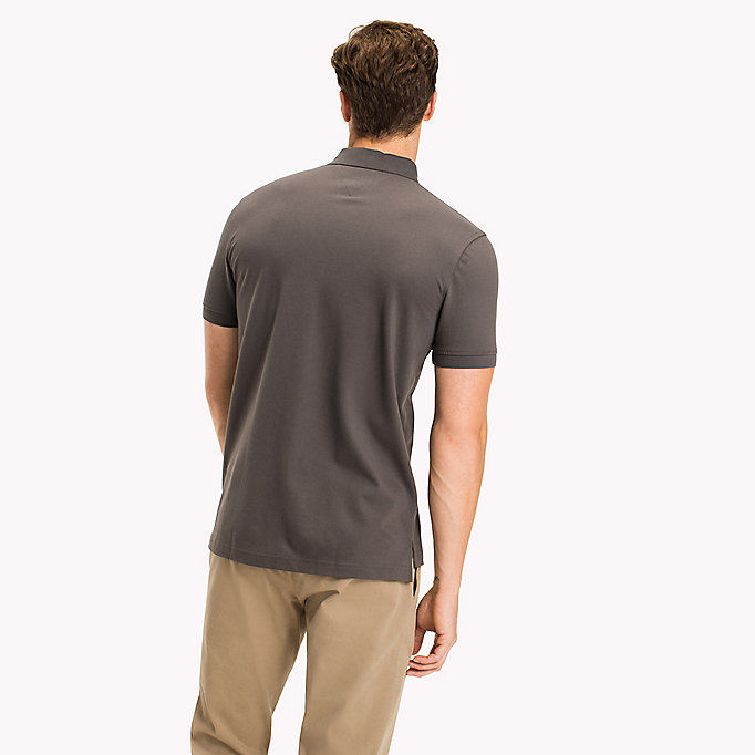 TOMMY HILFIGER Classic Regular Fit Polo - Big & Tall - SILVER FOG HTR - TOMMY HILFIGER Clothing - detail image 1