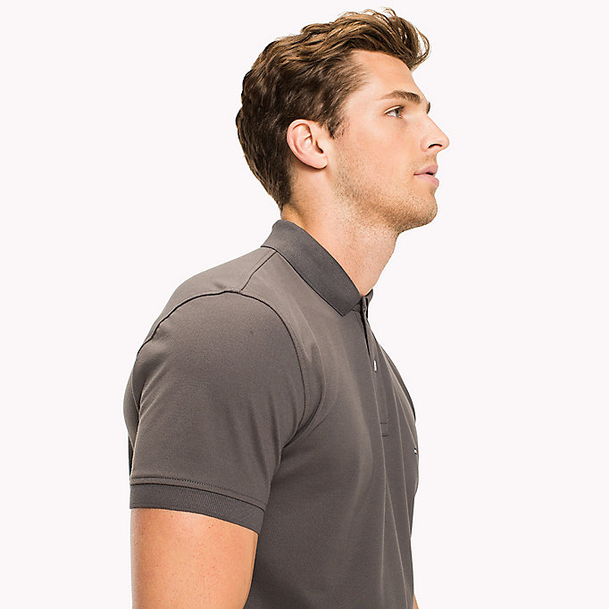 TOMMY HILFIGER Classic Regular Fit Polo - Big & Tall - SILVER FOG HTR - TOMMY HILFIGER Clothing - detail image 2