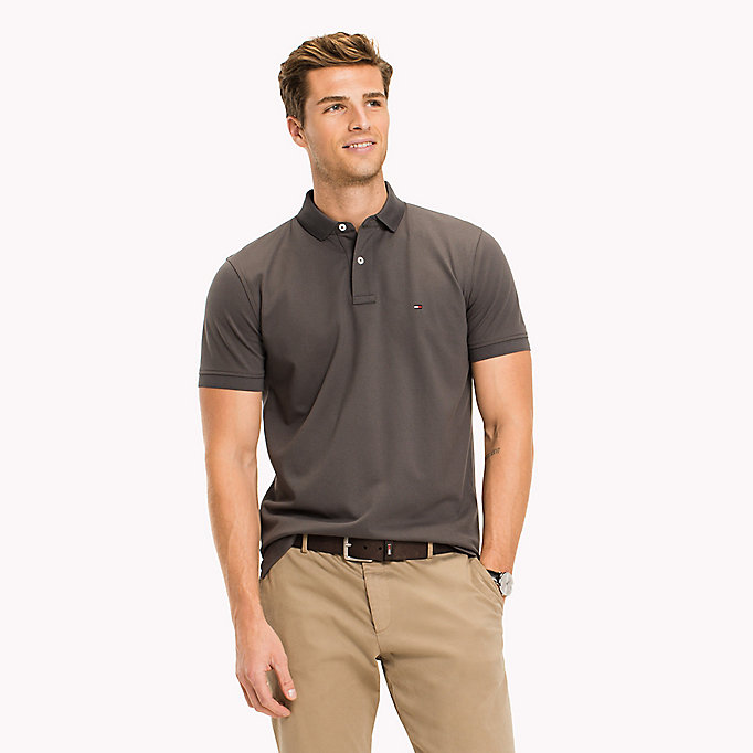 TOMMY HILFIGER Classic Regular Fit Polo - Big & Tall - SILVER FOG HTR - TOMMY HILFIGER Clothing - main image