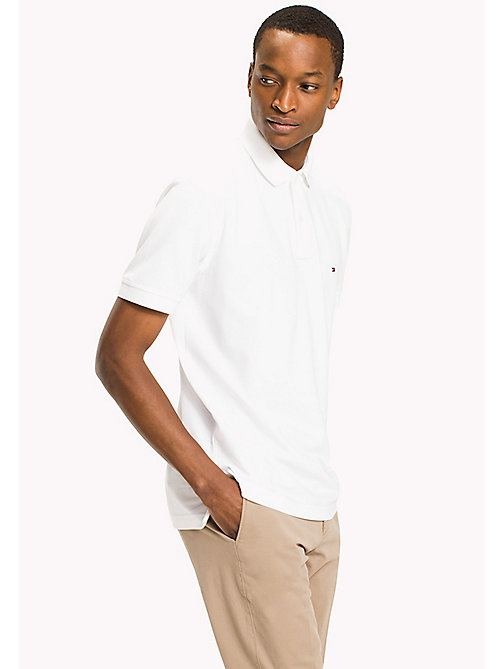 TOMMY HILFIGER Big & Tall Classic Regular Fit Polo - Big & Tall - BRIGHT WHITE - TOMMY HILFIGER Big & Tall - main image