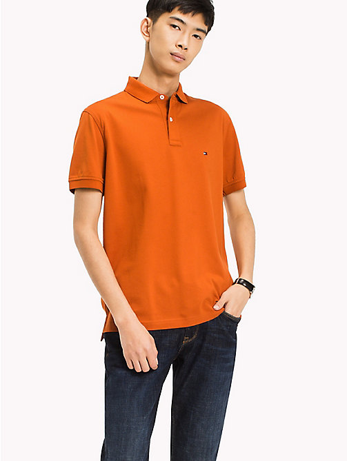 TOMMY HILFIGER Classic Regular Fit Polo - Big & Tall - CINNAMON STICK - TOMMY HILFIGER Polo Shirts - main image