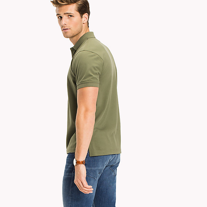 TOMMY HILFIGER Classic Regular Fit Polo - Big & Tall - MAGNET - TOMMY HILFIGER Clothing - detail image 1