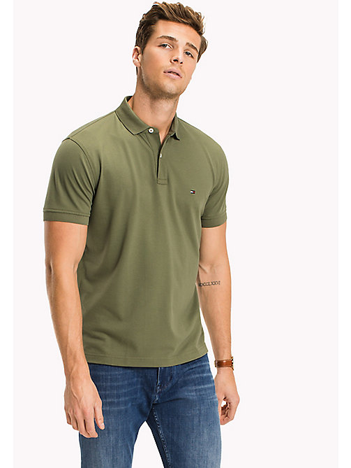 TOMMY HILFIGER Classic Regular Fit Polo - Big & Tall - FOUR LEAF CLOVER - TOMMY HILFIGER Polo Shirts - main image