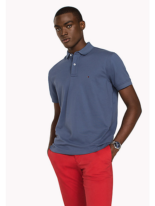 TOMMY HILFIGER Classic Regular Fit Polo - Big & Tall - VINTAGE INDIGO - TOMMY HILFIGER Poloshirts - main image
