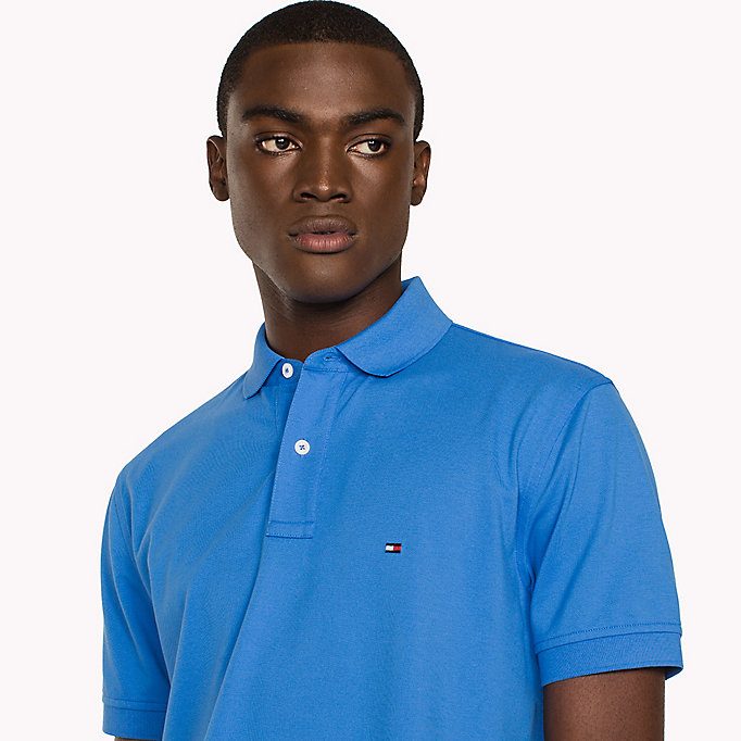 TOMMY HILFIGER Classic Regular Fit Polo - Big & Tall - VINTAGE INDIGO - TOMMY HILFIGER Men - detail image 2