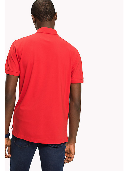 TOMMY HILFIGER Classic Regular Fit Polo - Big & Tall - HAUTE RED - TOMMY HILFIGER Polo Shirts - detail image 1