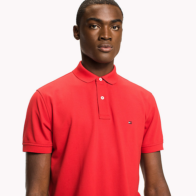 TOMMY HILFIGER Classic Regular Fit Polo - Big & Tall - CINNAMON STICK - TOMMY HILFIGER Clothing - detail image 2