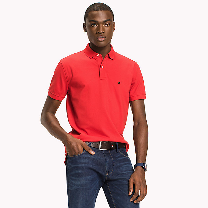 TOMMY HILFIGER Classic Regular Fit Polo - Big & Tall - CINNAMON STICK - TOMMY HILFIGER Clothing - main image