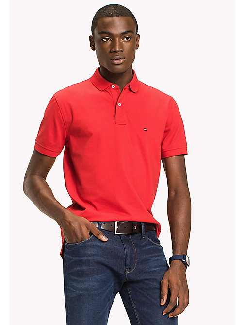 TOMMY HILFIGER Classic Regular Fit Polo - Big & Tall - HAUTE RED - TOMMY HILFIGER Polo Shirts - main image