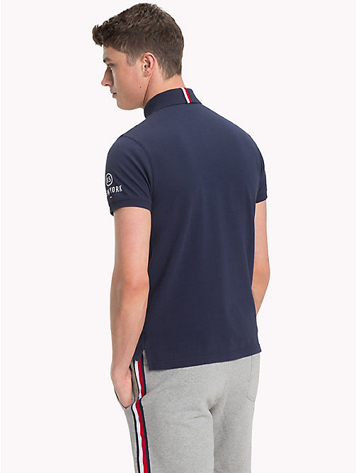 TOMMY HILFIGER Slim fit-poloshirt met racing badge - NAVY BLAZER - TOMMY HILFIGER Polo's - detail image 1