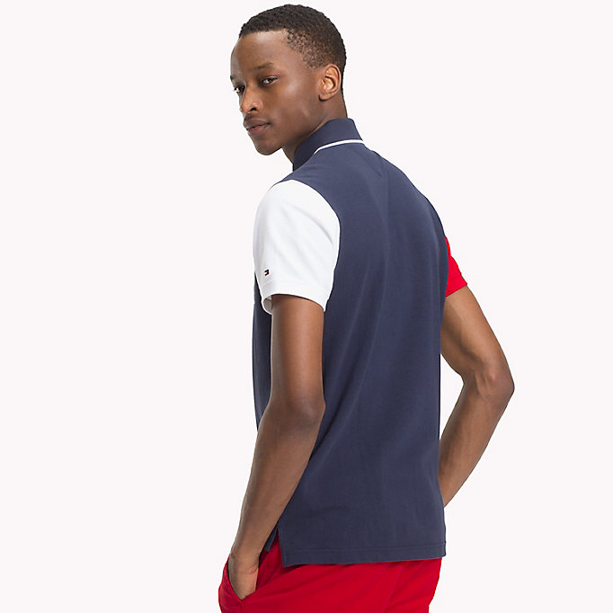 TOMMY HILFIGER Colour-Blocked Slim Fit Polo - FOUR LEAF CLOVER / MULTI - TOMMY HILFIGER Men - detail image 1