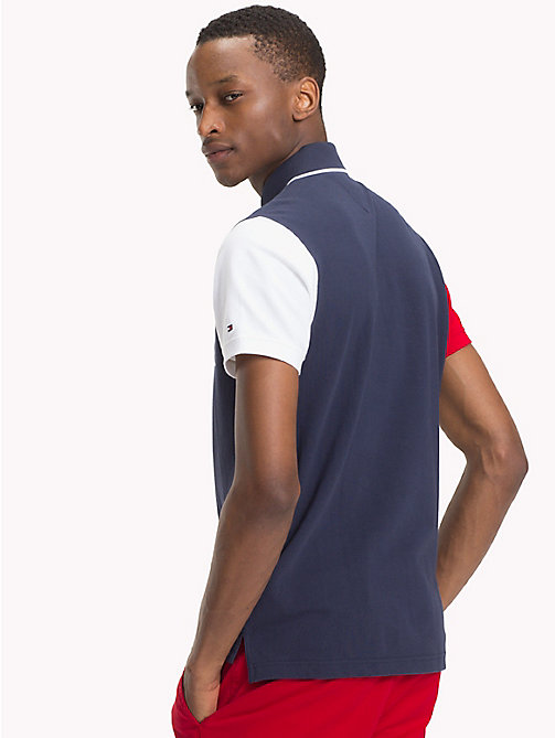 TOMMY HILFIGER Colour-Blocked Slim Fit Polo - NAVY BLAZER / MULTI - TOMMY HILFIGER TOMMY'S PADDOCK - detail image 1
