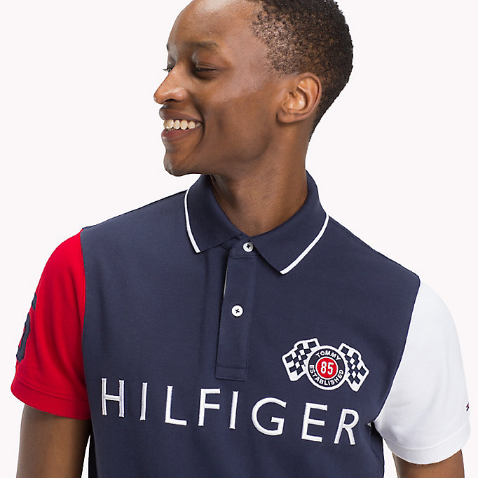 TOMMY HILFIGER Colour-Blocked Slim Fit Polo - FOUR LEAF CLOVER / MULTI - TOMMY HILFIGER Men - detail image 2