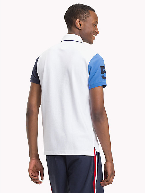 TOMMY HILFIGER Colour-blocked slim fit poloshirt - BRIGHT WHITE / MULTI - TOMMY HILFIGER TOMMY'S PADDOCK - detail image 1