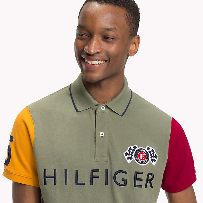 TOMMY HILFIGER Colour-Blocked Slim Fit Polo - BRIGHT WHITE / MULTI - TOMMY HILFIGER Men - detail image 2