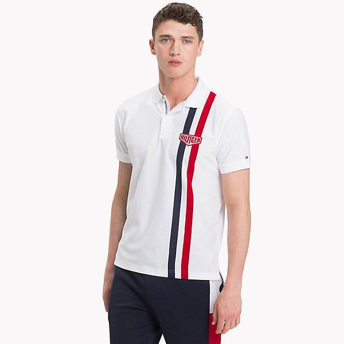 TOMMY HILFIGER Polo coupe standard à rayures verticales - SODALITE BLUE - TOMMY HILFIGER Hommes - image principale