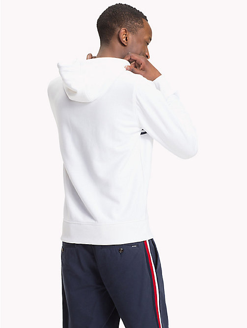 TOMMY HILFIGER Cotton Terry Logo Hoodie - BRIGHT WHITE - TOMMY HILFIGER Hoodies - detail image 1