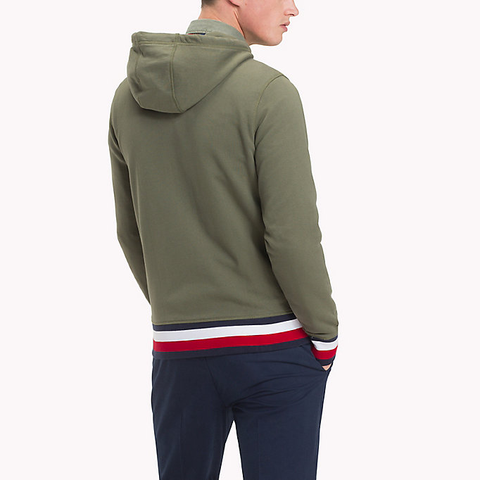 TOMMY HILFIGER Racing Badge Zip Thru Hoodie - NAVY BLAZER - TOMMY HILFIGER Clothing - detail image 1