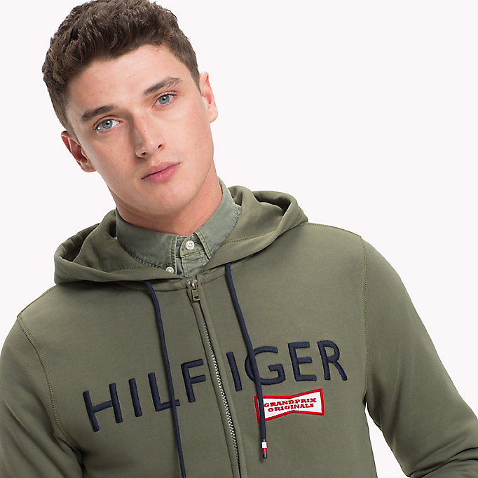 TOMMY HILFIGER Racing Badge Zip Thru Hoodie - NAVY BLAZER - TOMMY HILFIGER Clothing - detail image 2
