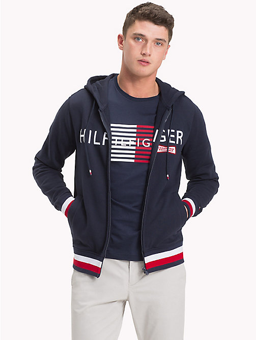 Racing Badge Zip Thru Hoodie - NAVY BLAZER - TOMMY HILFIGER Clothing - main image