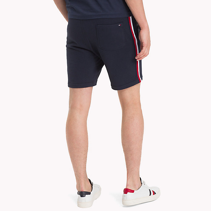 TOMMY HILFIGER Cotton Terry Racing Badge Sweatshorts - CLOUD HTR - TOMMY HILFIGER Men - detail image 1