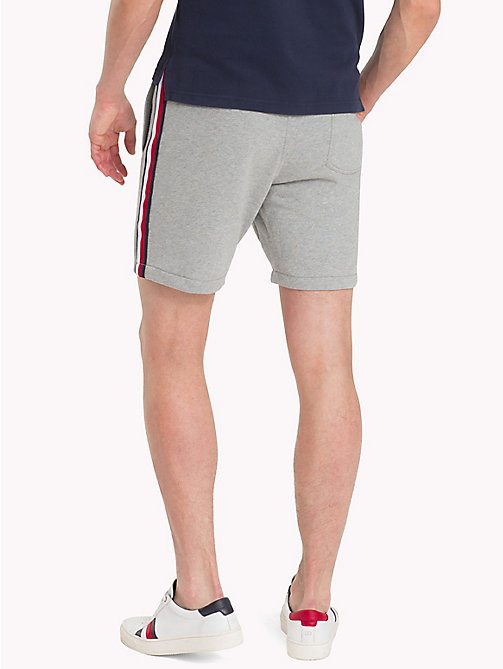 TOMMY HILFIGER Cotton Terry Racing Badge Sweatshorts - CLOUD HTR - TOMMY HILFIGER Shorts - detail image 1