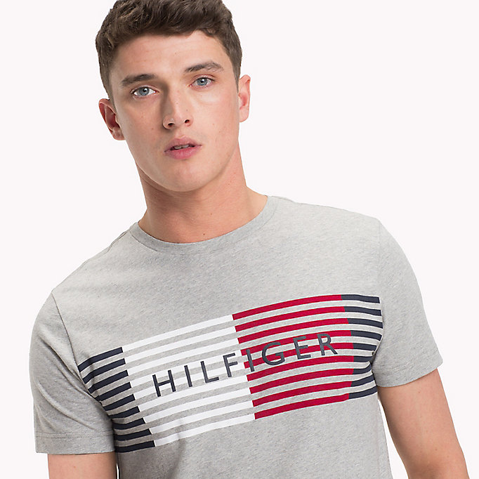 TOMMY HILFIGER Stripe Logo T-Shirt - BRIGHT WHITE - TOMMY HILFIGER Men - detail image 2