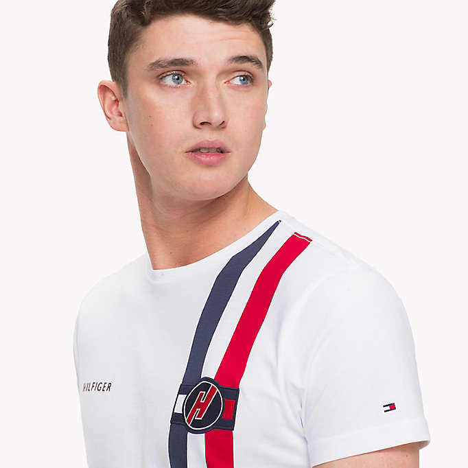 TOMMY HILFIGER Racing Badge Stripe T-Shirt - FANFARE - TOMMY HILFIGER Men - detail image 2